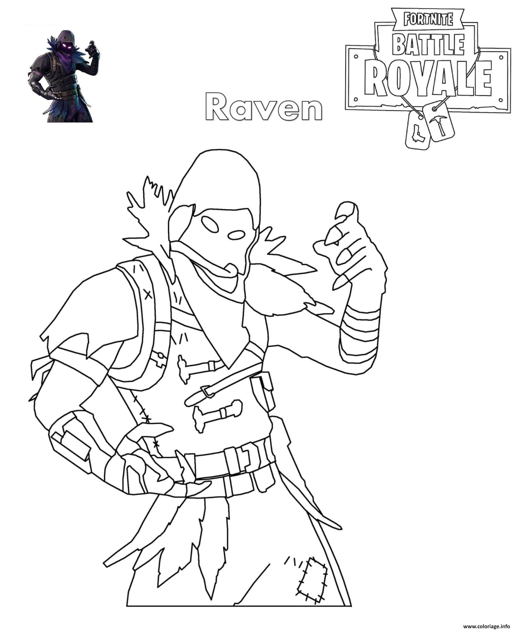 Coloriage Figurine Pop Fortnite.Coloriage Fortnite Raven Dessin A Imprimer Activites Creations De