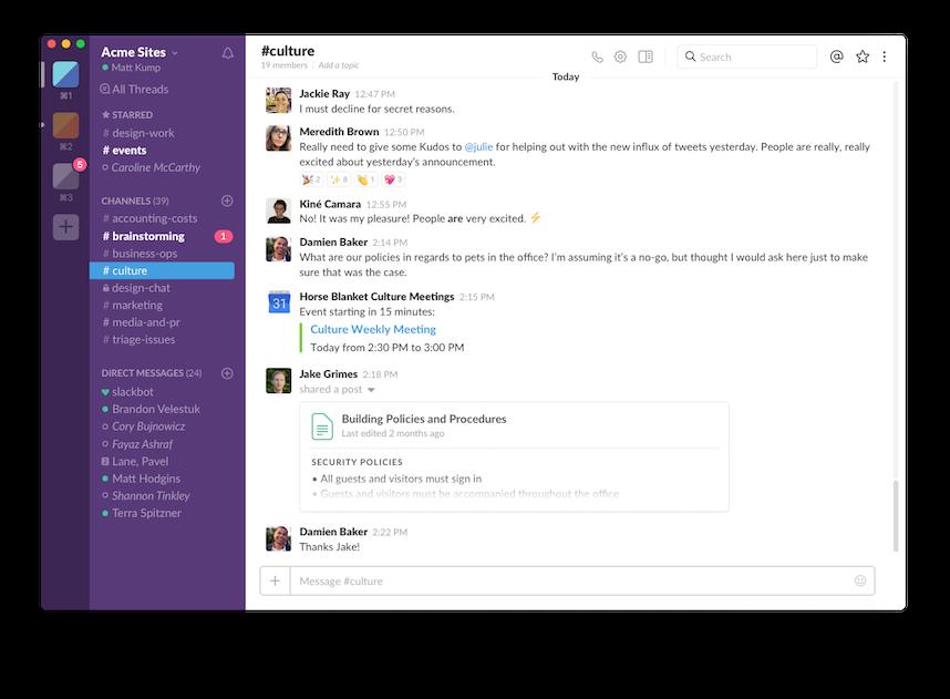 Standuply Slack App Directory Desktop screenshot, App