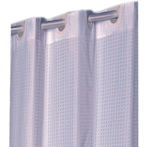 Amazon Com Checks Ivory Ez On Hookless Fabric Extra Long Shower