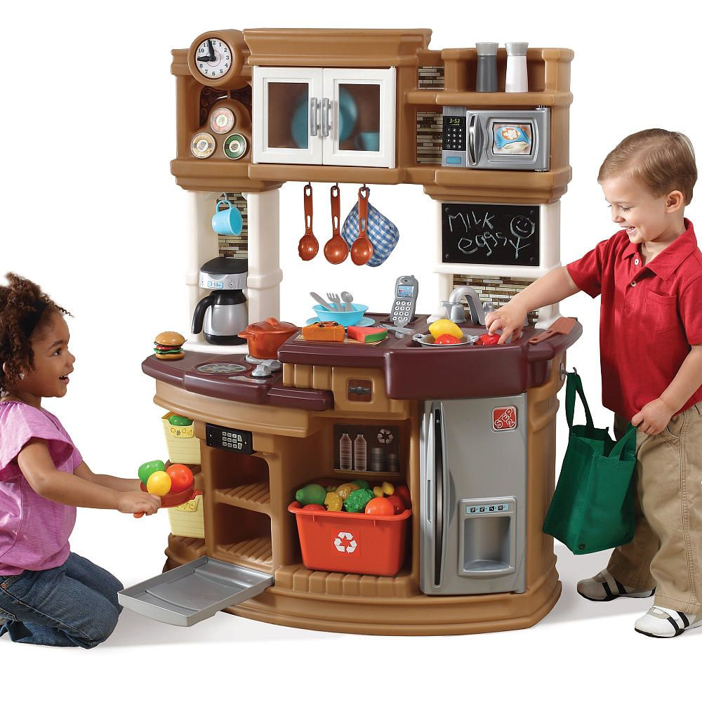 Step2 lil 39 chef 39 s gourmet kitchen neutral step2 toys for Kitchen set at toys r us
