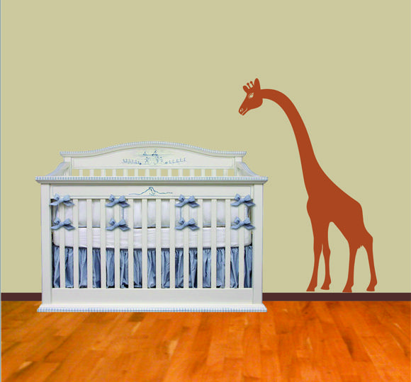 Cozy Home Wall Decals - Giraffe Watching Over Wall Decal, $38.50 ...