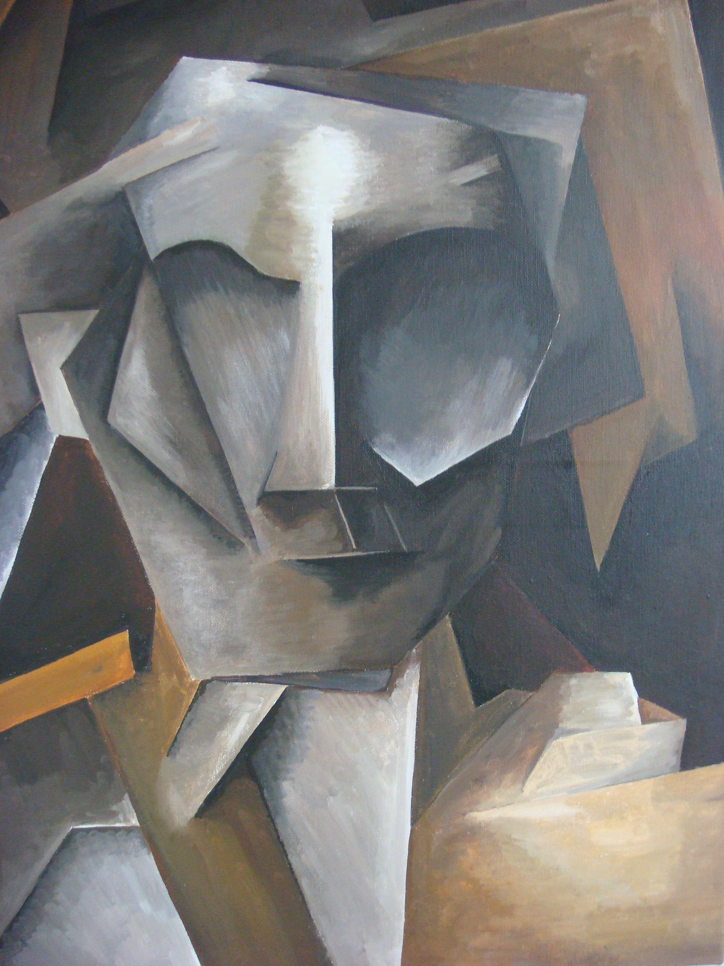Cubism style portrait | Ideas for A Level portfolio | Pinterest
