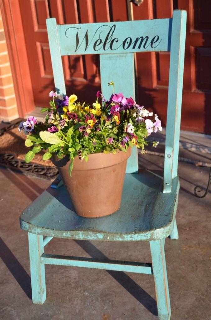 diy chair upcycle feeling very martha stewartish garden veranda sch ne g rten und st hle. Black Bedroom Furniture Sets. Home Design Ideas