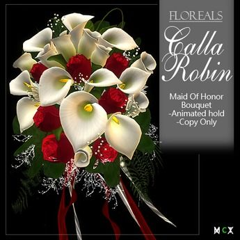 Maid of Honor Bouquet FLOREAL Calla Robin(w/ animation)