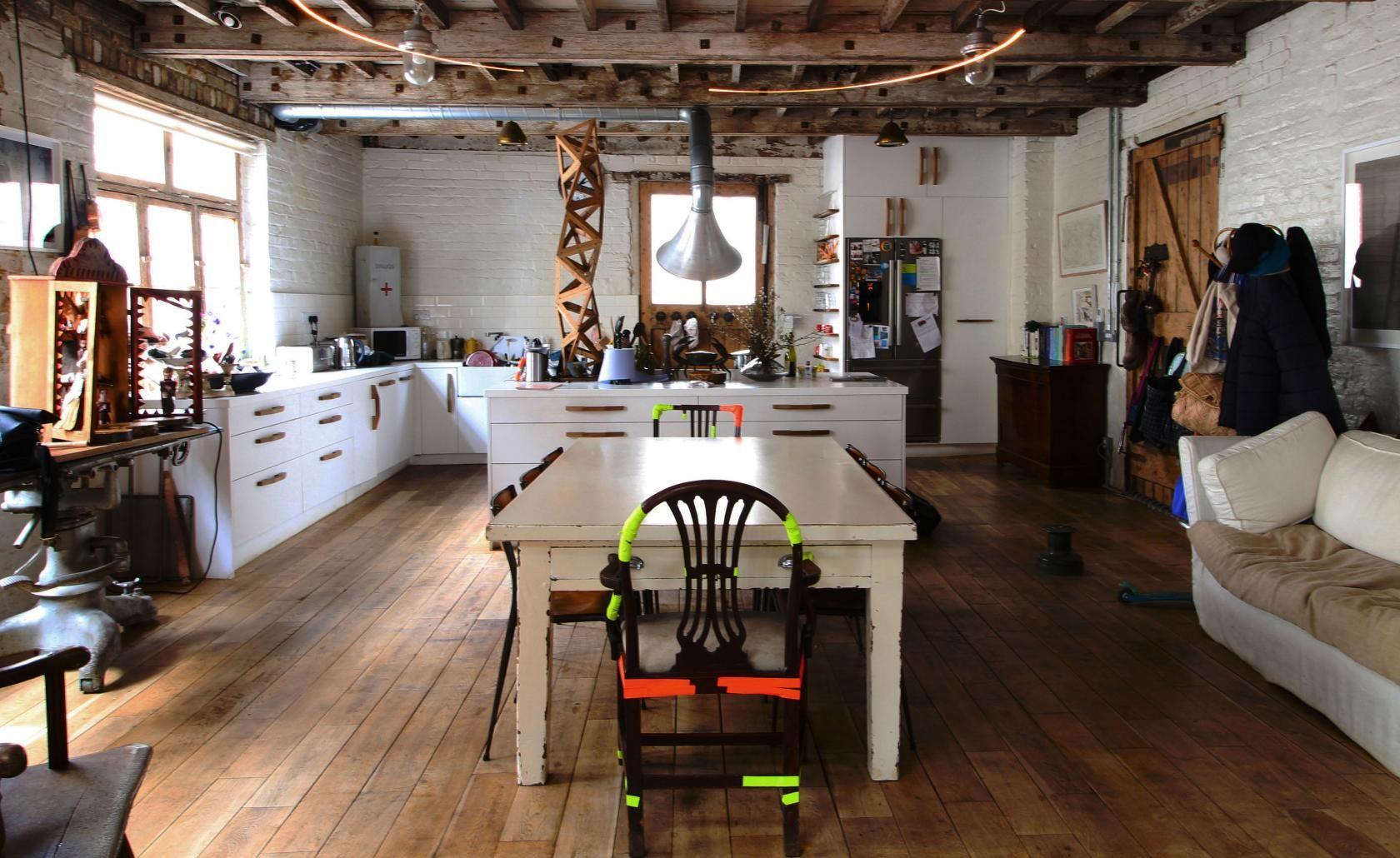 Inside artist Conrad Shawcross' house and studio in east