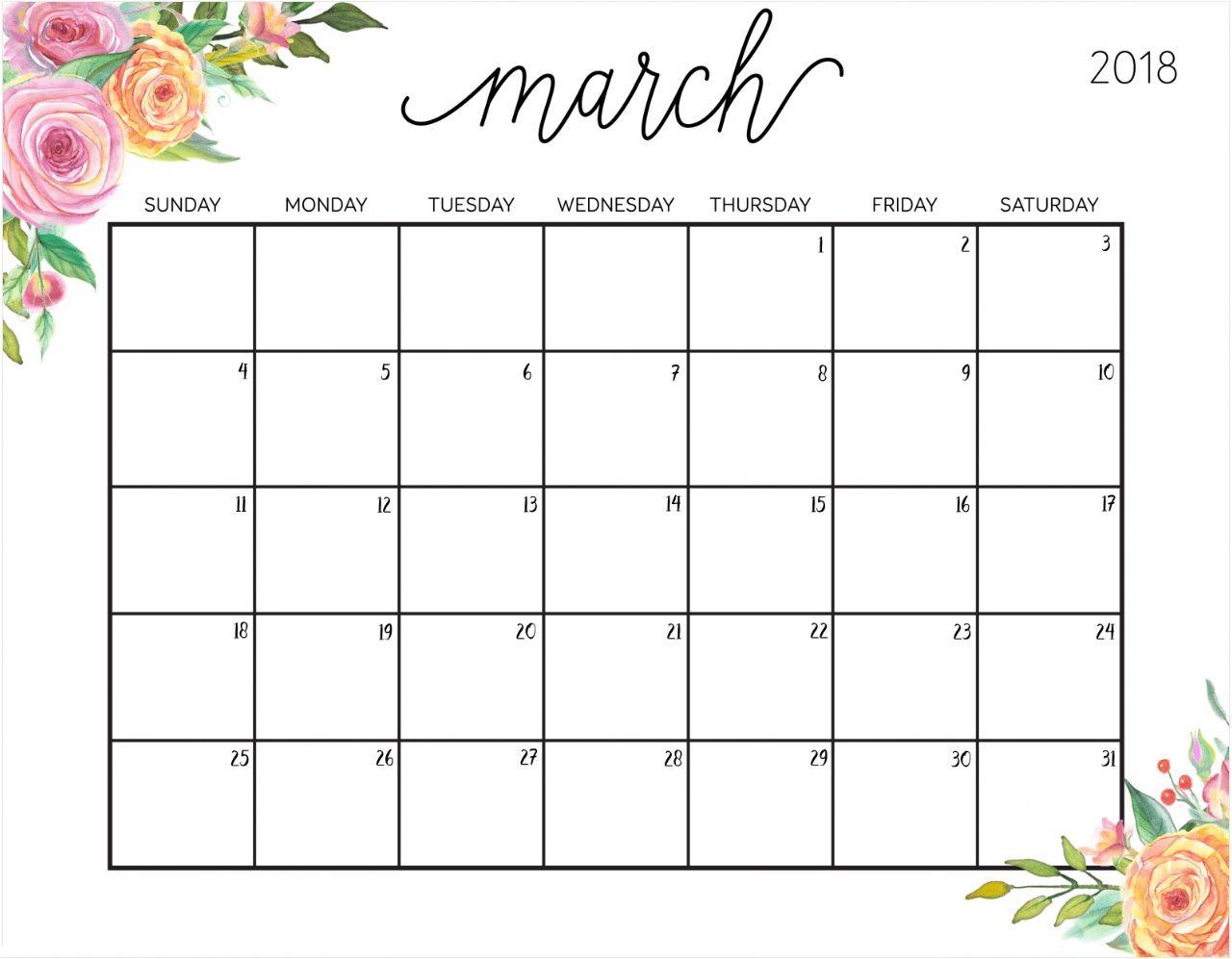 march 2018 planning calendar template