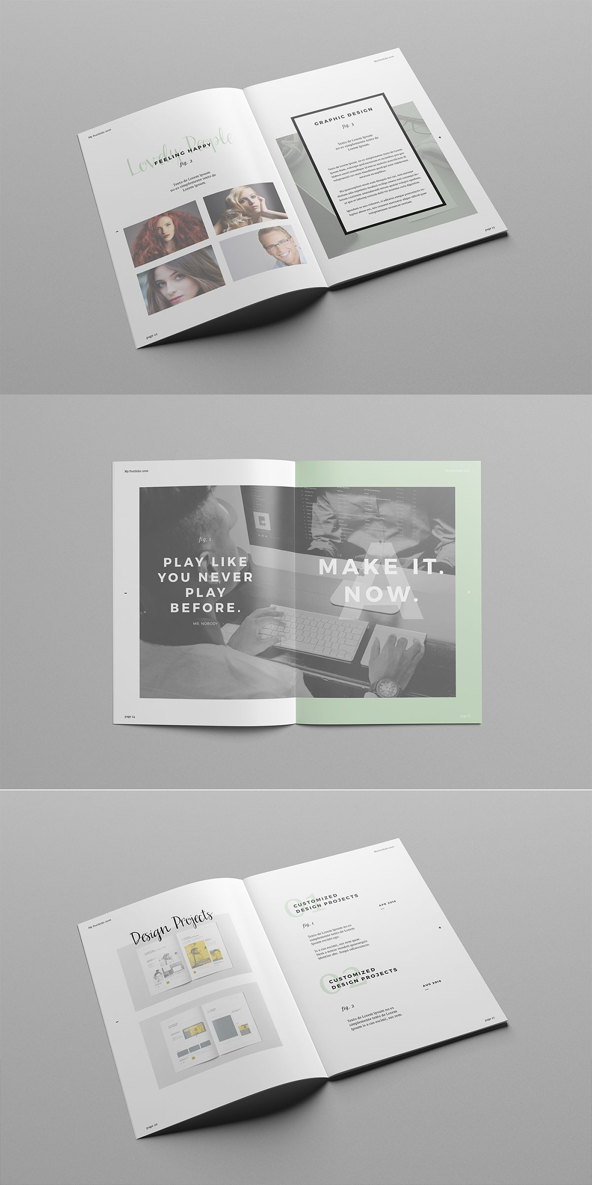 Work And Portfolio Templateminimal Professional Template For Creative Businesses Created In Adobe Indesign International Din A4