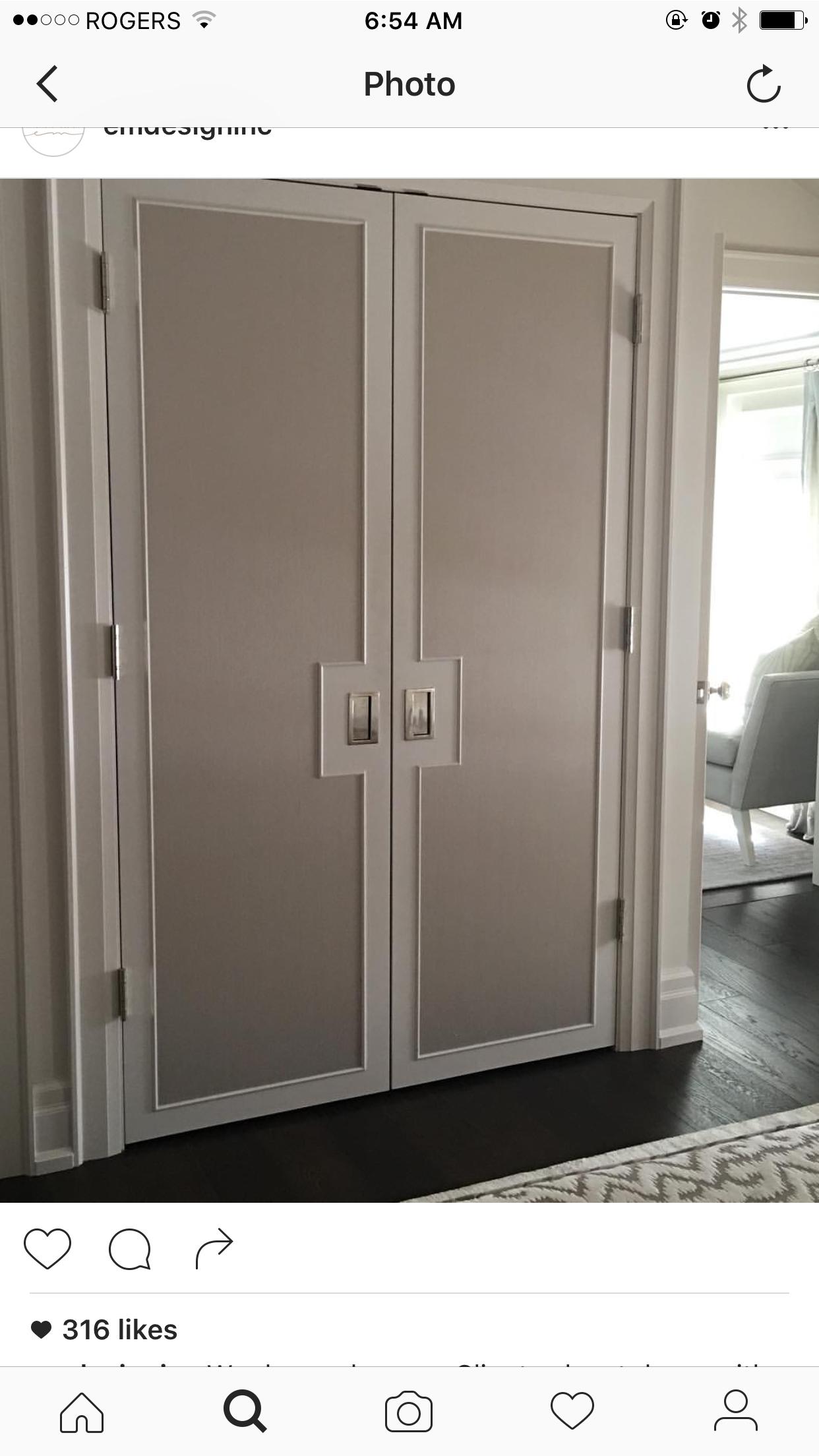 Closet Doors, Polished Nickel, Closets, Bathrooms, Chic, Glam Bedroom,  Decor, Tvs, Dressing Rooms