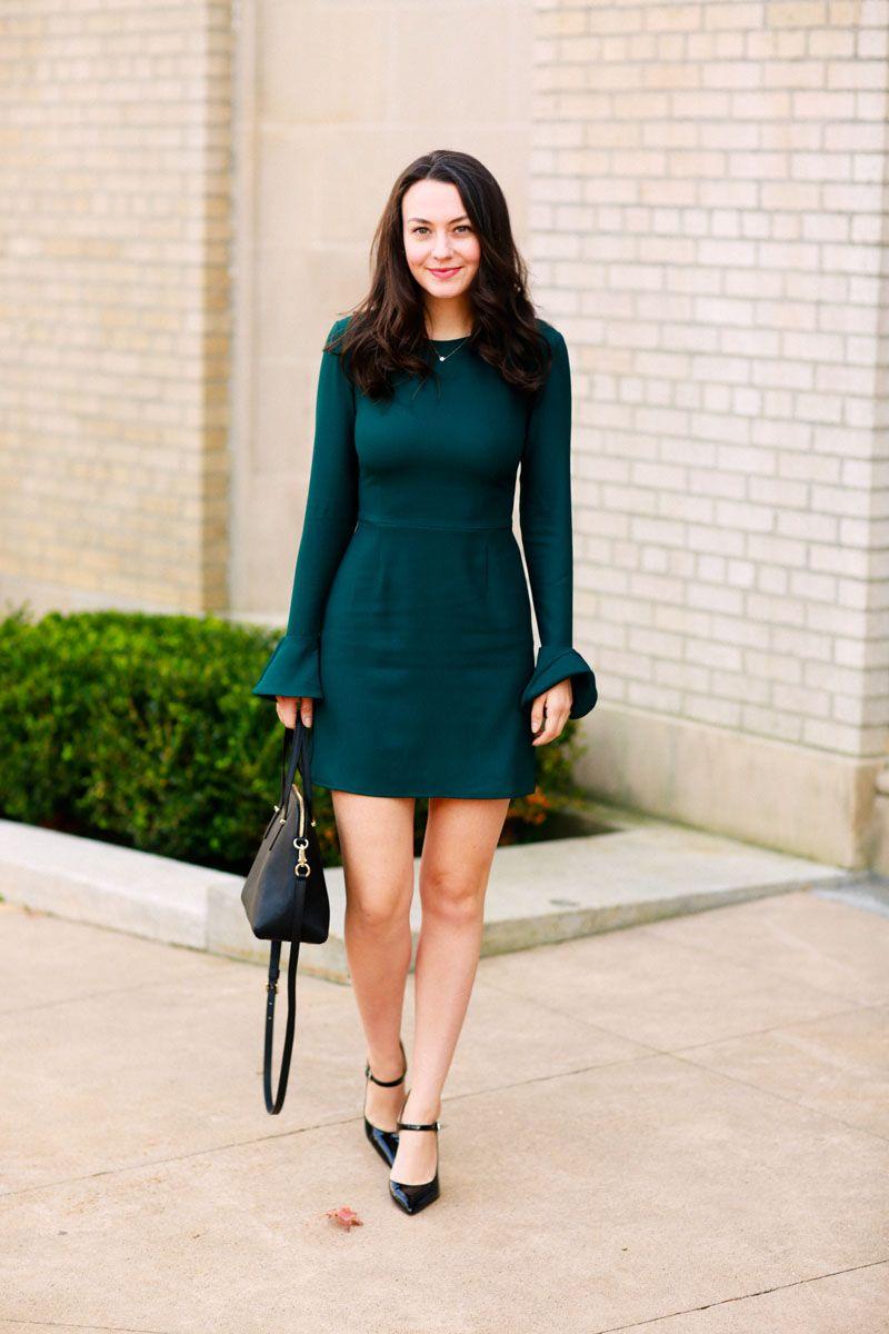 leith bell sleeve sheath dress  3ebd71a360