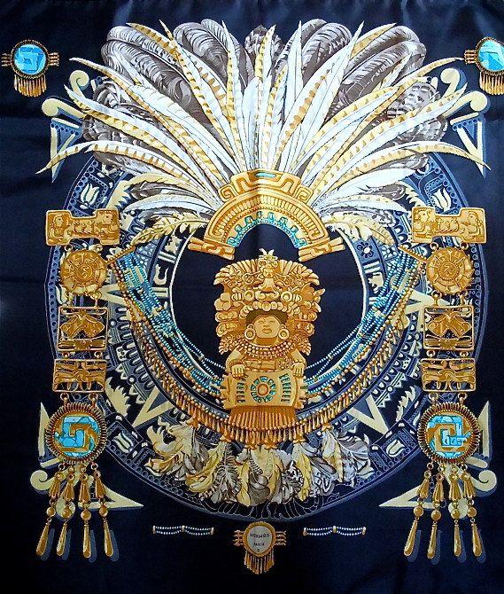 091879056410 Hermès - Mexique signé Cathy Latham (1985)   H en rosace