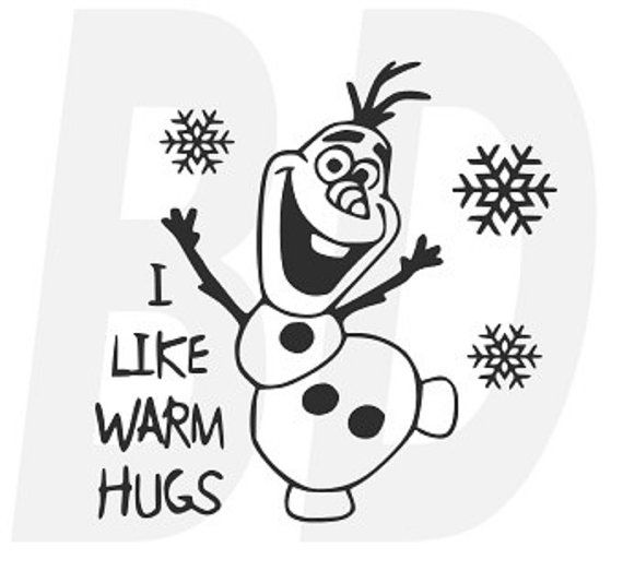olaf i like warm hugs svg  dxf  eps cutting files for cricut and silhouette cameo