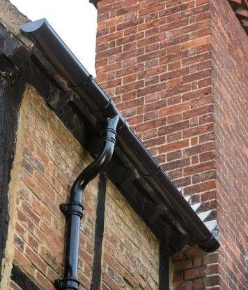 Capturing The Elegant Aesthetics Of Period Architecture Alutec S Tudor Downpipe Aluminium Rainwater System Has Been Installed At Moreteyne Tudor Building Architecture