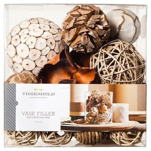 Decorative Balls For Vases Prepossessing Vase Filler Natural  Threshold White  Living Room Redo Woods Design Ideas