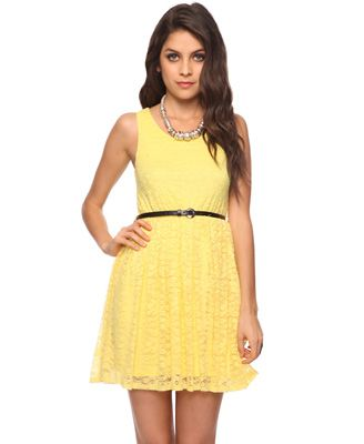 30f0147a051a Fit   Flare Lace Dress - Forever 21
