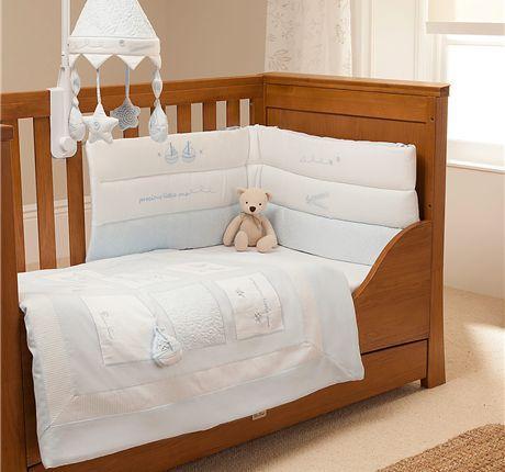 Gorgeous Boys Vintage Blue Cot Bedding Set By Silvercross Cot