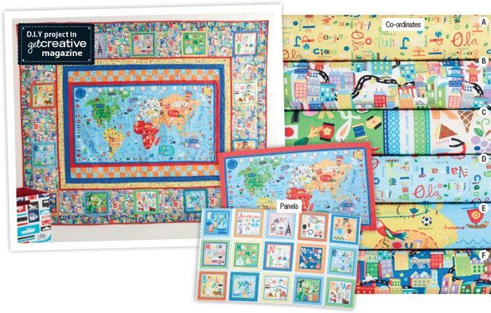 World map fabric sewing fabric pinterest map fabric world map fabric sciox Gallery