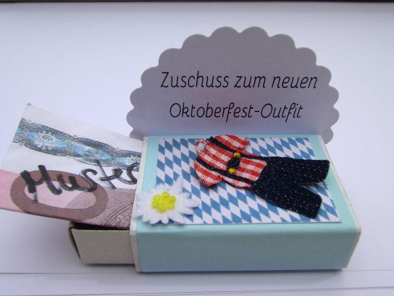 geldgeschenk streichholzschachtel bayrisch von mafi s kreative welt auf. Black Bedroom Furniture Sets. Home Design Ideas