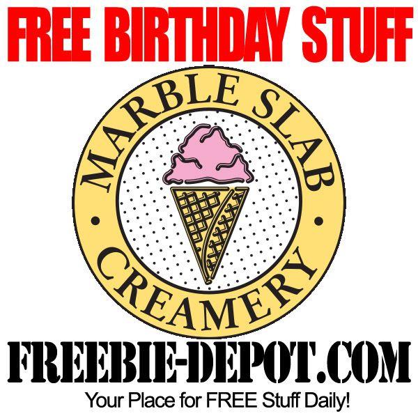 Birthday Freebie Marble Slab Creamery Marble Slab Creamery Marble Slab Ice Cream Marble Slab