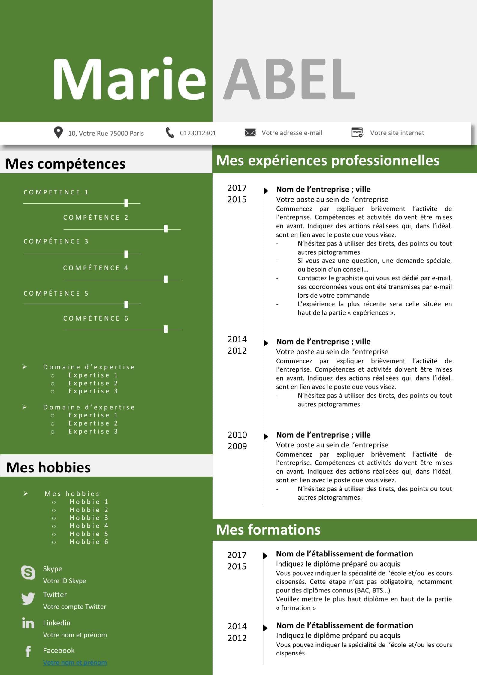 Pack Cv Et Lettre De Motivation Vert Modifiable Pour 6 99 Seulement Modele De Cv Design Modele Cv Lettre De Motivation