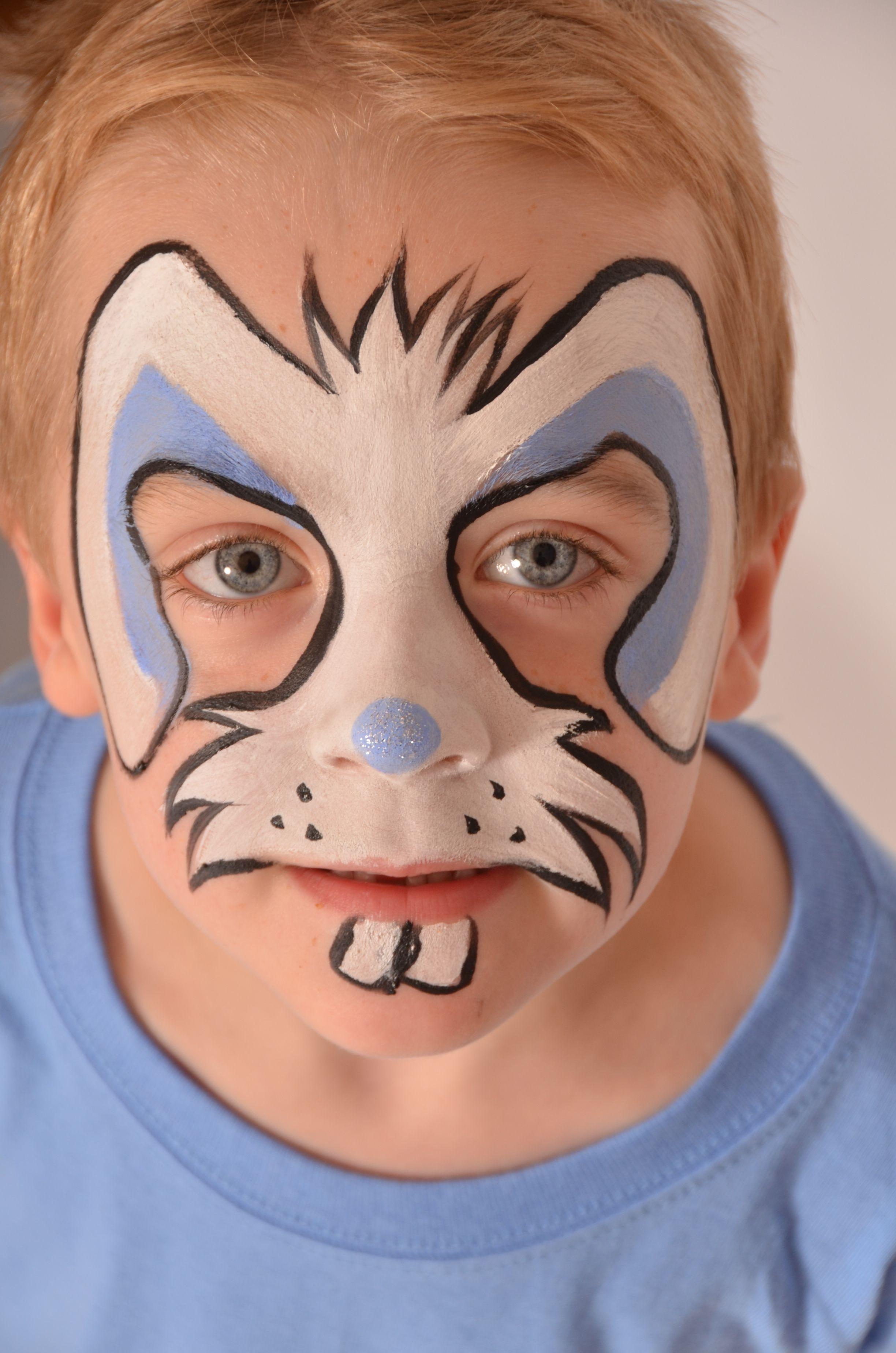 Boys easter rabbit face paint snazaroo facepaint easter