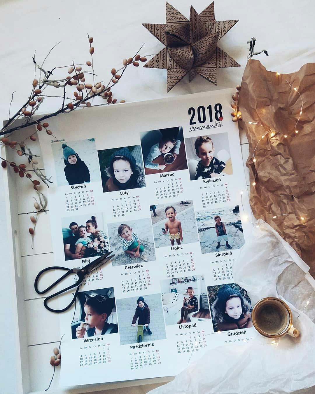 Kalendarz Fotokalendarz Na Sciane Ze Zdjeciami Z Instagrama