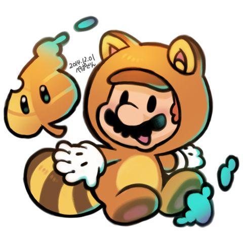 Chibi Tanooki Mario Mario Et Luigi Dessin De Mario