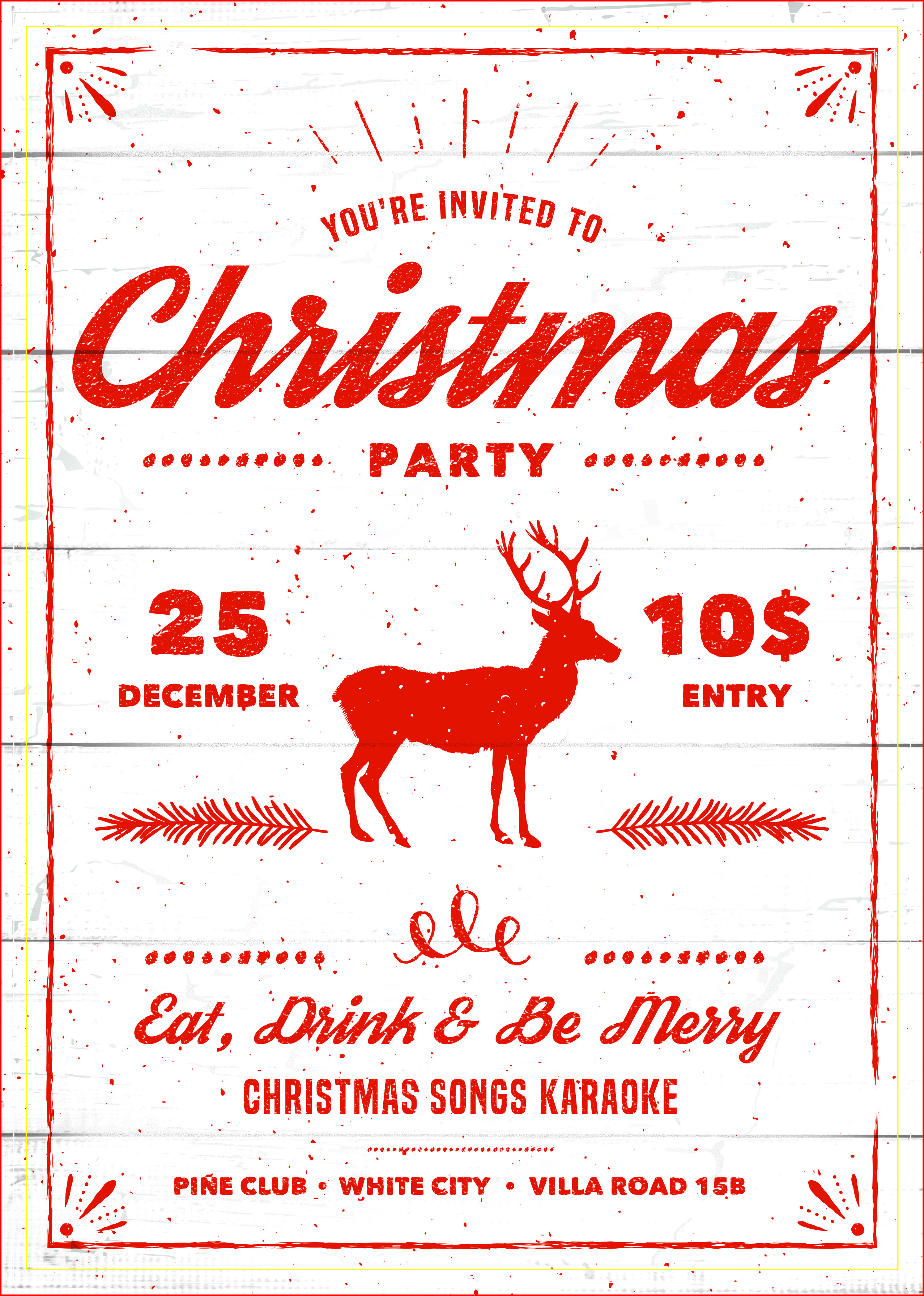 Best Christmas Party Invitations Free Printable | Holiday ideas ...