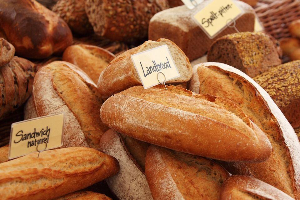 Fundo, Baguette, Cozido, Padaria, Pão, Brown, Crosta