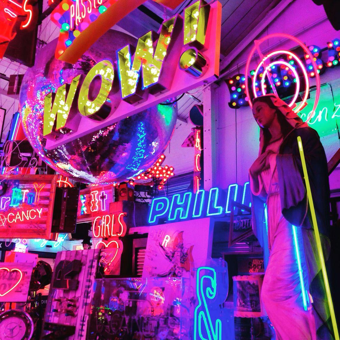 Neon Light Shop In Philippines: Gods Own Junkyard