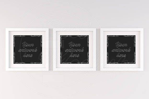 Set of three frame, Square frame mockup, Handing frame, 3 mockup ...