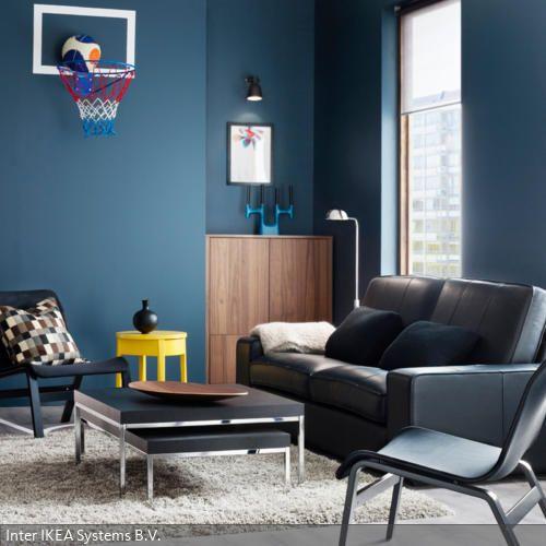 Farbgestaltung in Blau-Grau - wohnzimmer blau grau