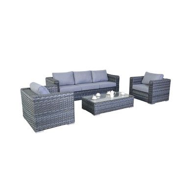Port Royal 5 Seater Sofa Set With Cushions Garden Sofa Sofa Set Garden Sofa Set