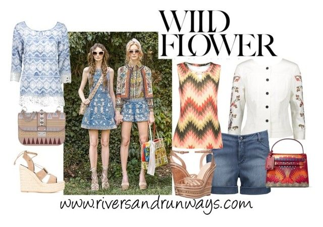 Wild Flower by riversandrunways on Polyvore featuring Jessica Simpson, Yves Saint Laurent, Valentino and Alice + Olivia