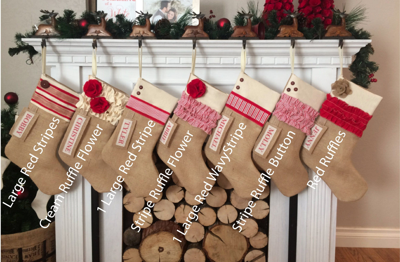 Custom Christmas Stocking Farmhouse Christmas Rustic