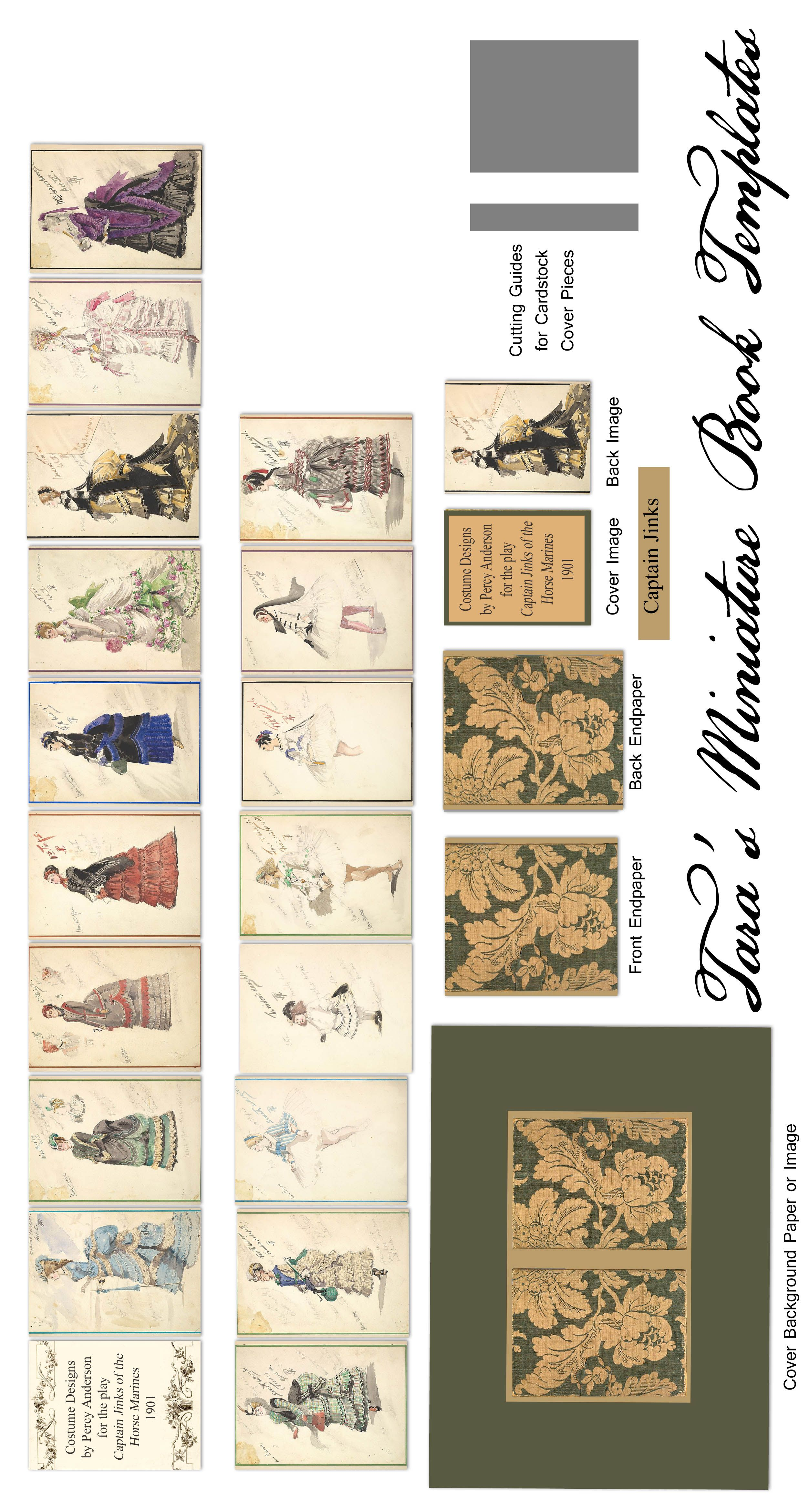 Book Cover Template Maker : Revised free miniature book template for a quot dollhouse