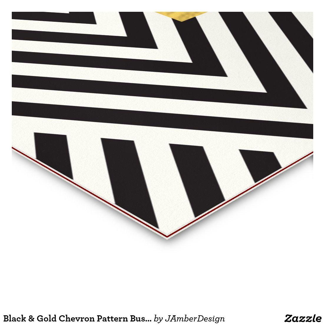 black gold chevron pattern business card business card design