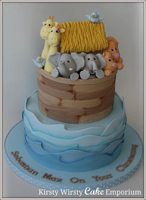 Noah S Ark Christening Cake By Kirstywirstycake Cakesdecor Com