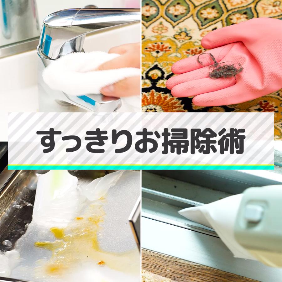 お部屋がもっとすっきり お掃除テクをチェック 今回はぜひ覚えてほしいお掃除テクをご紹介します さっそくチェック じゅうたんの汚れ取り じゅうたんの取りきれない細かいゴミには ゴム手袋をはめてなでる 水アカ落とし 蛇口の水アカ汚れ