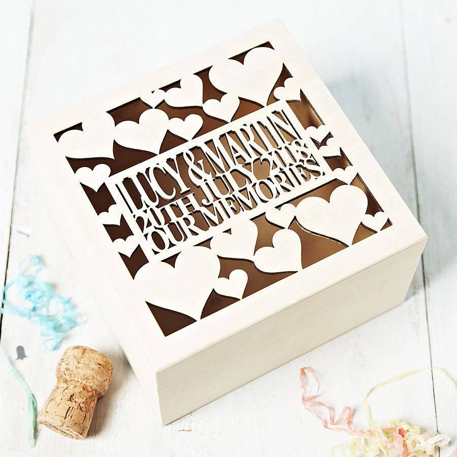 Personalised Anniversary Keepsake Box   Keepsakes and Box