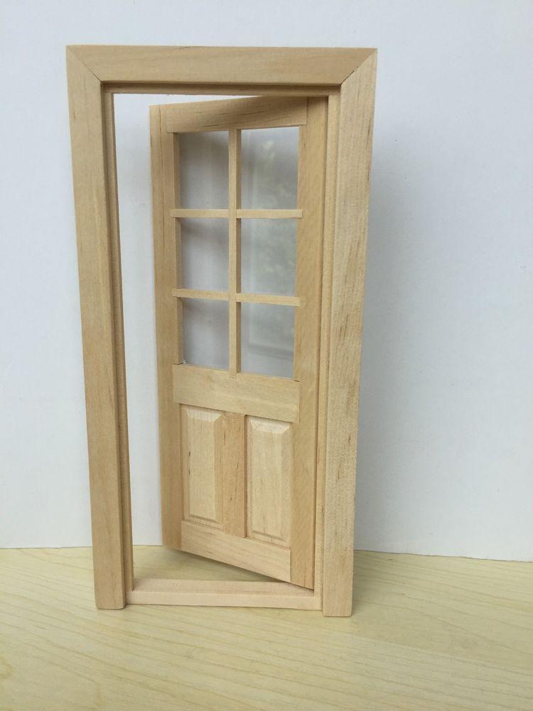 1 12 dollhouse miniature door wood interior 1pcs oa011g unbranded rh pinterest com