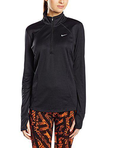 NIKE Nike Womens Dri-Fit Racer Long Sleeve 1/2 Zip Running Shirt Pink. #nike #cloth #