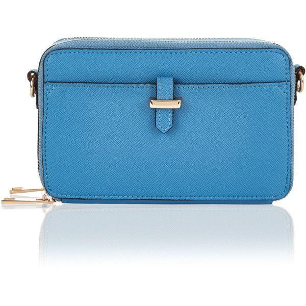 Accessorize Thandi Mini Purse Bag (£23) ❤ liked on Polyvore featuring bags, handbags, miniature purse, hardware bag, blue bag, accessorize bags and accessorize handbags