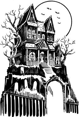 Stock haunted house art tattoo ideas pinterest Haunted house drawing ideas