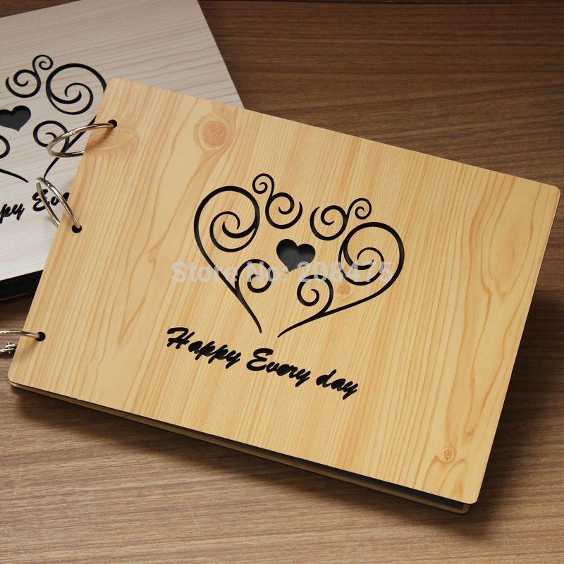 Barato presentes de casamento frete gr tis de madeira - Album de fotos personalizado ...