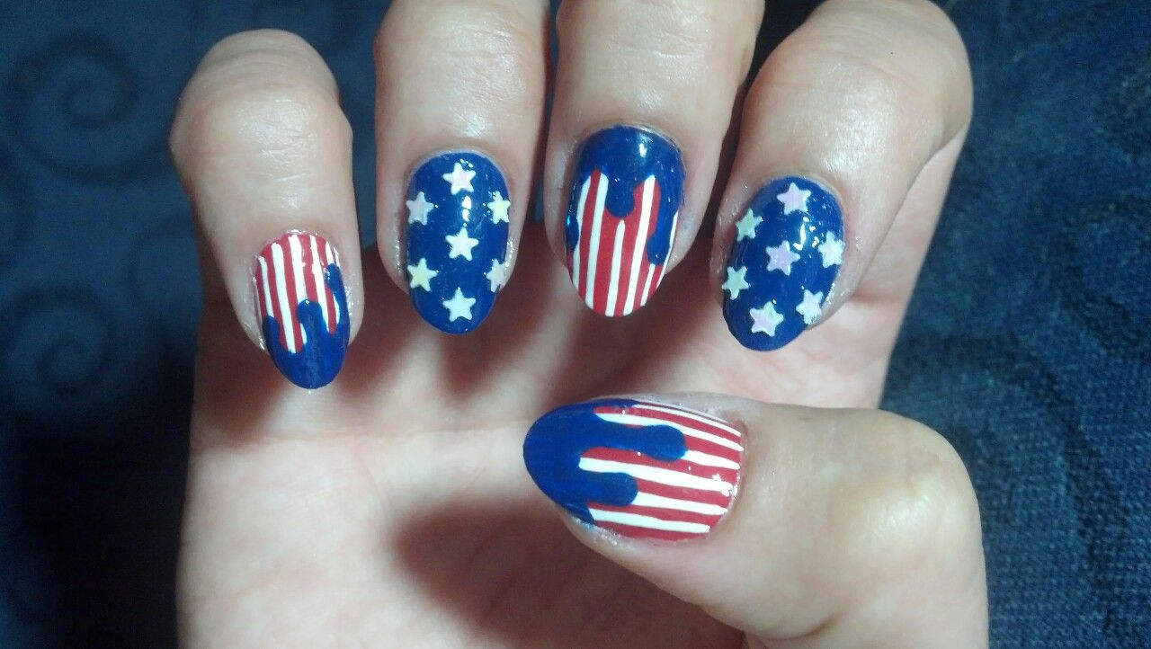 Dripping Paint Nails | Nails | Pinterest | Dripping paint and Finger ...