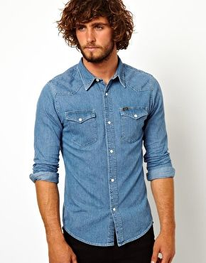Lee Denim Shirt Western Slim Fit Light Stone  dfd0ebb1e489c