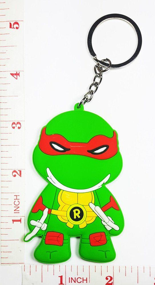 Official Teenage Mutant Ninja Turtles Keyring Gift Rubber Keychain Keys