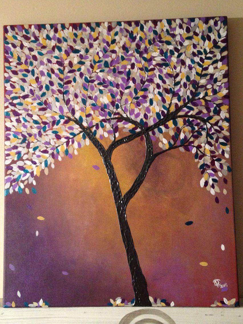 Energy - acrylic tree painting