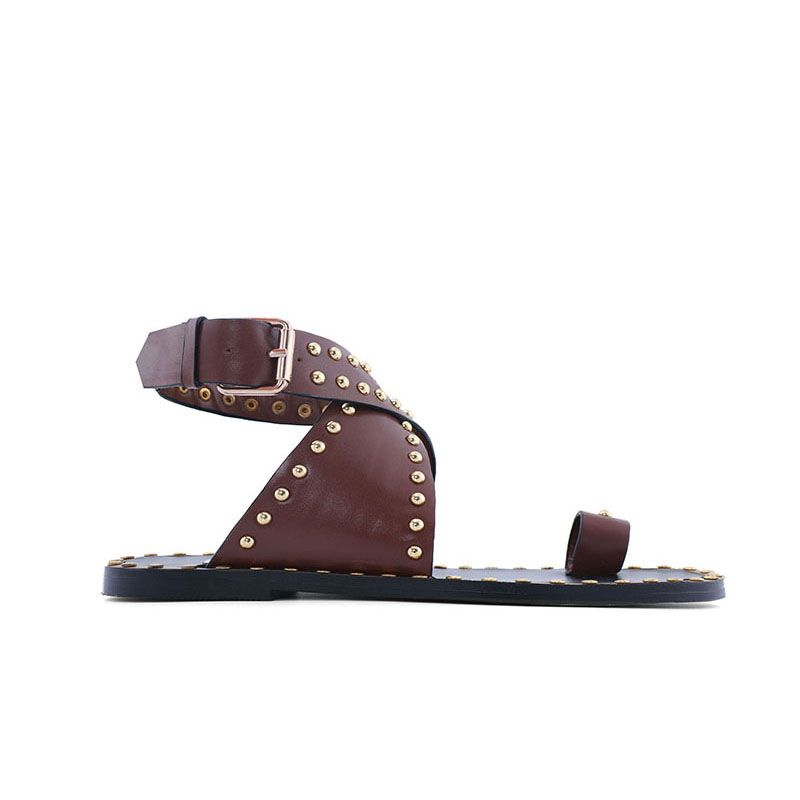 dc39eaa56  jessicabuurman :MASON Studded Embellished Leather Flat Sandals. Shop   jessicabuurman