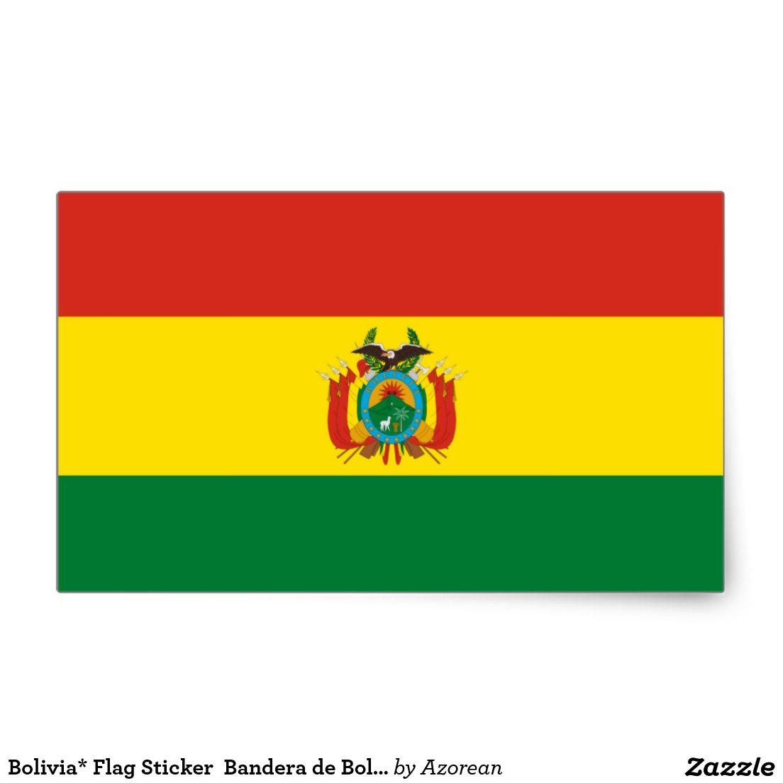 Bolivia* Flag Sticker  Bandera de Bolivia